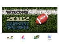 Game Day Orientation slides - Game Day Challenge