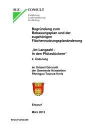 Begründung und Umweltbericht - Gemeinde Hünstetten