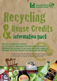 to download the Recycling & Reuse - Leicestershire County Council