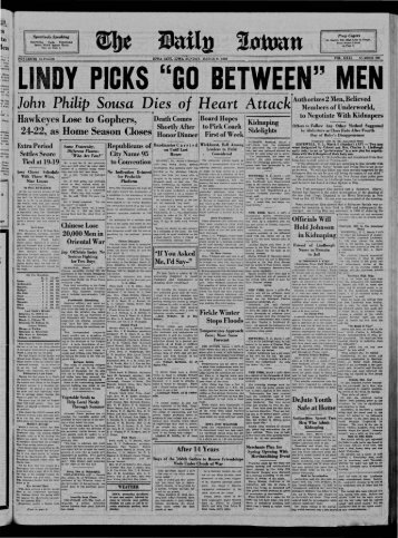 March 6 - The Daily Iowan Historic Newspapers - The University of ...