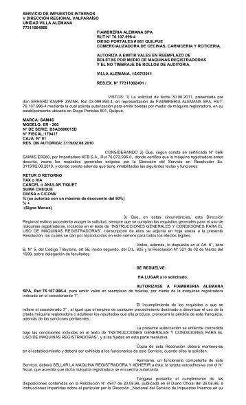 Documento - Servicio de Impuestos Internos