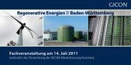 Fachveranstaltung am 14. Juli 2011 - GICON