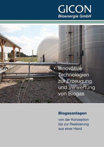 Innovative Technologien zur Erzeugung und Verwertung ... - GICON