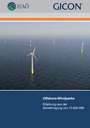 Offshore-Windparks DE - IfAÖ