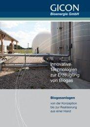 Innovative Technologien zur Erzeugung von Biogas - GICON
