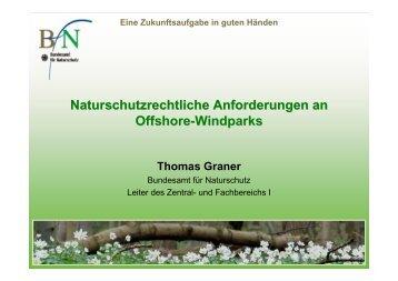 Naturschutzrechtliche Anforderungen an Offshore-Windparks