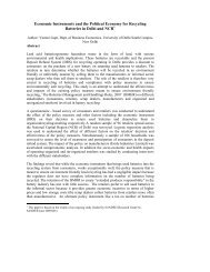 Economic Instruments and the Political Economy for Recycling ...