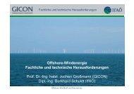 Offshore-Windenergie Fachliche und technische ... - GICON