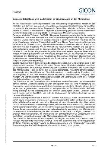 2009-07-28 RADOST-Pressemitteilung_GICON