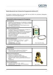 Mobile Messtechnik des Fachbereichs Energietechnik ...  - GICON