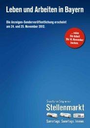 Leben und Arbeiten in Bayern - F.A.Z. Verlag - FAZ.net