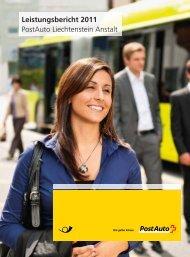 Leistungsbericht PostAuto Liechtenstein Anstalt