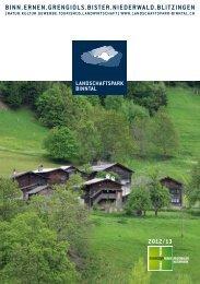RZ Prospekt A5 2012.indd - Landschaftspark Binntal