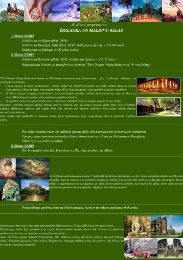 Individuāla 12 dienu programma Šrilankā un Maldīvu salās - Naos
