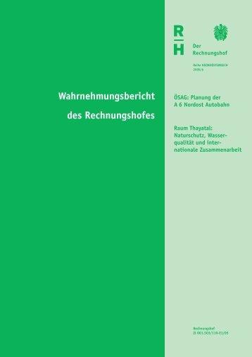 Bericht - Der Rechnungshof