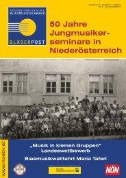 50 Jahre Jungmusiker- seminare in Niederösterreich