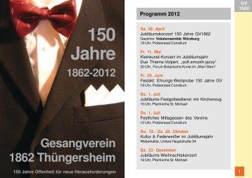 Festschrift - Gesangverein 1862 Thüngersheim eV
