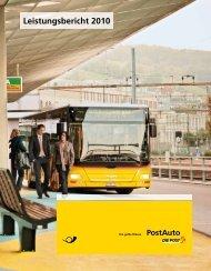 Leistungsbericht 2010. PostAuto.