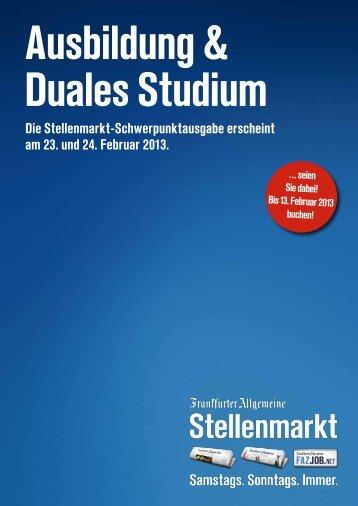 Ausbildung & Duales Studium - F.A.Z. Verlag