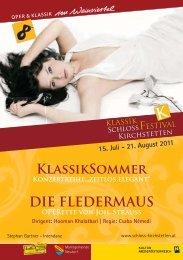 DIE FLEDERMAUS KlassikSommer - Schloss Kirchstetten