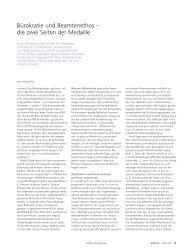 Bürokratie und Beamtenethos – die zwei Seiten ... - Universität Bern