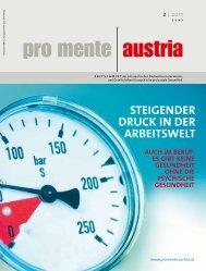 steigender druck in der Arbeitswelt - pro mente Burgenland