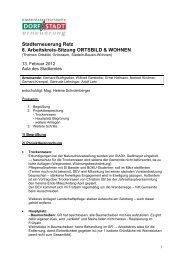 Stadterneuerung Retz 8. Arbeitskreis-Sitzung ORTSBILD & WOHNEN