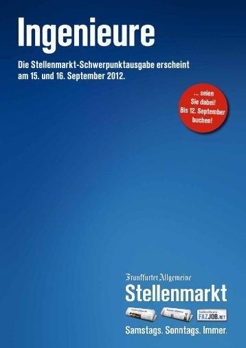 Die Stellenmarkt-Schwerpunktausgabe erscheint am 15 ... - FAZ.net