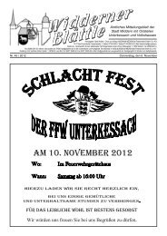 AM 10. NOVEMBER 2012 - Stadt Widdern