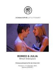 Lehrermaterial ROMEO & JULIA - Schauspiel Stuttgart