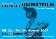 Festival #20 der neue heimatFilm - Local-Bühne Freistadt