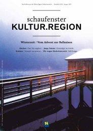 Schaufenster Kultur.Region 2012-Dezember/Jänner