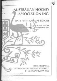 Australian Hockey Association Annual Report 1994