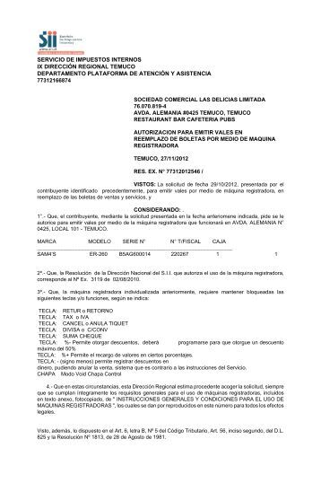 Documento - Servicio de Impuestos Internos