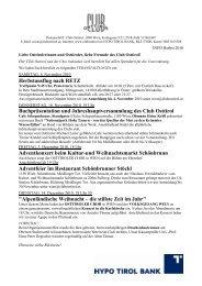 Herbstausflug nach RETZ Buchpräsentation und ... - Club Osttirol