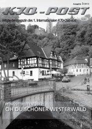 OH DU SCHÖNER WESTERWALD - 1. Internationalen K70-Club.eV