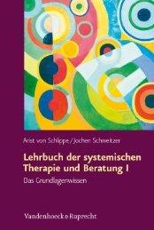 Lehrbuch der systemischen Therapie und Beratung I - Vandenhoeck ...