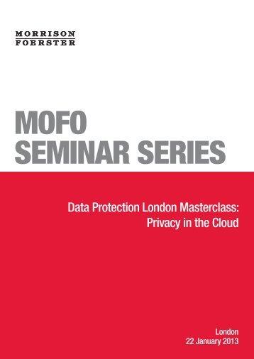 a copy of the presentation - Morrison Foerster