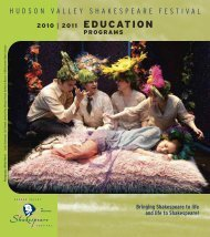 2010 2011 education programs - Hudson Valley Shakespeare Festival