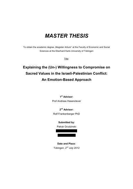 Master thesis at government by essay crisis