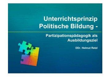 Unterrichtsprinzip Politische Bildung - - Institut Retzl