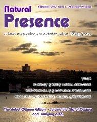 Sept 2012 Ottawa edition - Natural Presence Magazine