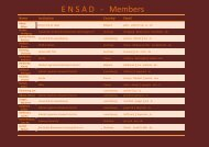 Here you can find a list of the - www.ensad.info