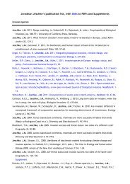 Jonathan Jeschke's publication list, with links to PDFs and ...