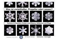 Systeme Propeller / Lanzen im Überblick - Kosten und Effizienz