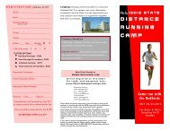 DISTANCE RUNNING CAMP - Illinois State Sports Camps
