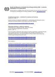ILO Guides and Manuals - International Labour Organization