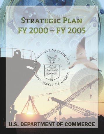 FY 2005 Strategic Plan - Department of Commerce