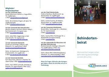 Behinderten- beirat - Landkreis Ammerland