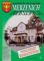 Nr. 07/2012, erschienen am 22.06.2012 - Gemeinde Merzenich